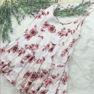 Brandy Melville Backless Baby Doll Floral Dress